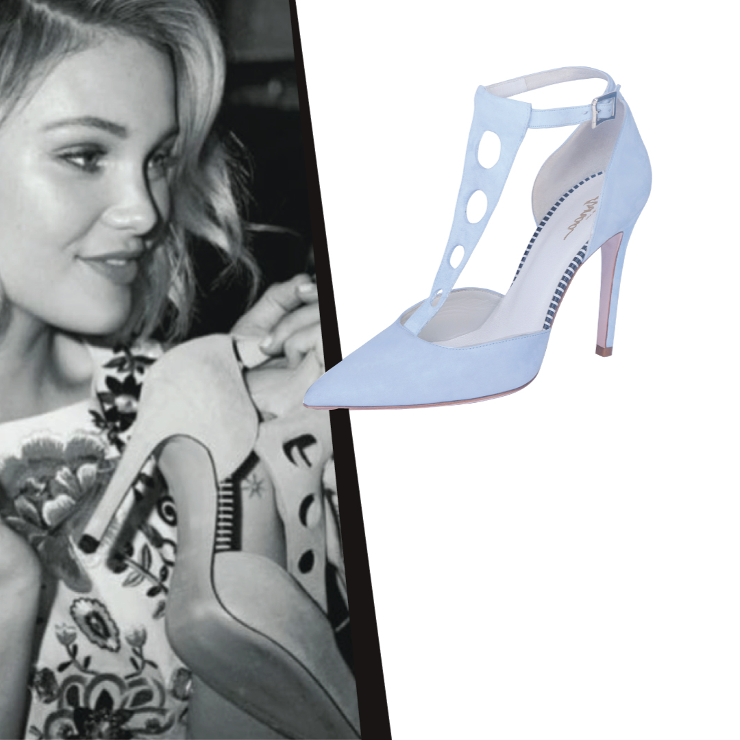 Olivia Holt wearing Arnaa by Farah Sultan